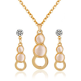 Women's Bridal Jewelry Sets Earrings Jewelry Gold For Wedding Party / Necklace Gender:Women's; What's in the box:Necklace,Earrings; Jewelry Type:Bridal Jewelry Sets; Occasion:Party,Wedding; Color:Gold; Front page:WE; Shipping Weight:0.04; Package Dimensions:15.015.010.0; Net Weight:0.03; Listing Date:08/16/2016; Special selected products:Clearance