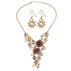 Women's Bridal Jewelry Sets Earrings Jewelry Gold For Wedding Party / Necklace Gender:Women's; What's in the box:Necklace,Earrings; Jewelry Type:Bridal Jewelry Sets; Occasion:Party,Wedding; Color:Gold; Front page:WE; Net Dimensions:0.0000.0000.000; Shipping Weight:0.050; Package Dimensions:0.0000.0000.000; Net Weight:0.000; Listing Date:08/16/2016