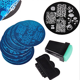12 pcs Stamping Plate Template Fashionable Design nail art Manicure Pedicure Stylish / Fashion Daily / Metal