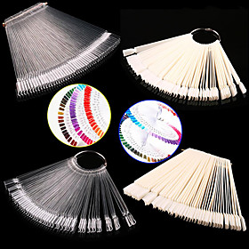 1set false display nail art fan wheel polish practice tip sticks nail art 50pcs 100 top good