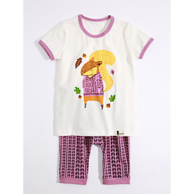 Girls' Clothing Set Geometric Cotton Daily Purple Season:Summer; Fabric:Cotton; Gender:Girls'; Occasion:Daily; Kids Apparel:Clothing Set; Pattern:Geometric; Filling Material:Cotton; Front page:FF; Net Weight:0.12; Listing Date:04/24/2017; Bust:; Length [Bottom]:; Length [Top]:; Waist:; SizeChart1_ID:636:120671; Base Categories:Kids' Clothing Sets,Kids' Clothing,Clothing,Apparel  Accessories