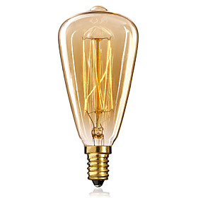 1pc Edsion Bulb 40W E14 ST48 Warm White 2300k Incandescent Vintage Edison Light Bulb 220-240V