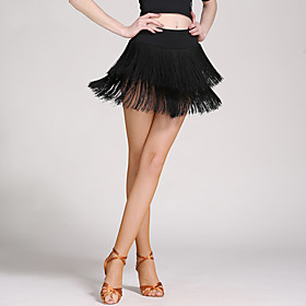Latin Dance Skirts Tassel Women's Dropped