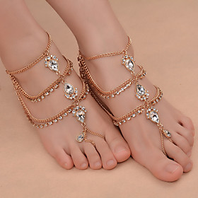 Barefoot Sandals feet jewelry Ladies Fashion Women's Body Jewelry For Daily Outdoor clothing Iron(nickel plated) Rhinestone Alloy Drop Gold Silver 1pc Gender:Women's; Quantity:1pc; Theme:Drop; Style:Ladies; Jewelry Type:feet jewelry,Barefoot Sandals; Occasion:Going out,Daily,Outdoor clothing; Material:Alloy,Iron(nickel plated),Rhinestone; Length:8.66 (Approx.22cm); Brand:Shixin; Front page:Jewelry; Shipping Weight:0.038; Net Weight:0.037; Listing Date:07/03/2017; Production mode:Self-produce; Package type:Plastic bag; Base Categories:Anklets,Apparel  Accessories,Jewelry