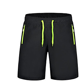 Men's Active Daily Sports Going out Loose Loose Sweatpants Shorts Pants Solid Colored Drawstring Summer White Orange Green M L XL / Weekend