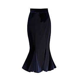 Women's Athleisure Medium Length Skirts Skirt Solid Fall Winter