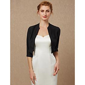 3/4 Length Sleeve Coats / Jackets Chiffon Wedding / Party / Evening Women's Wrap / Bolero With Draping / Solid
