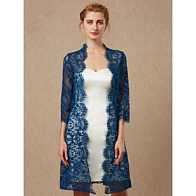 3/4 Length Sleeve Coats / Jackets Lace Wedding / Party / Evening Women's Wrap With Lace