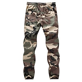 Hiking Pants Men's Basic / Military Daily Skinny / wfh Sweatpants Pants - Camo / Camouflage Spring Summer Gray Army Green XXXL XXXXL XXXXXL