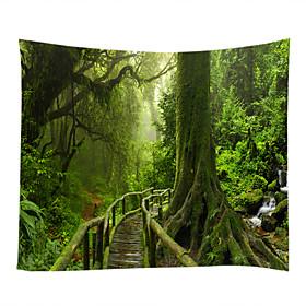 Garden Theme Landscape Wall Decor 100% Polyester Contemporary Modern Wall Art, Wall Tapestries of