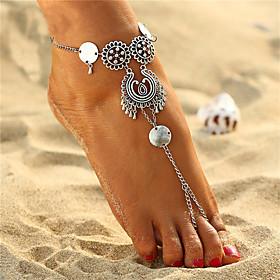 Anklet feet jewelry Ladies Boho Bohemian Women's Body Jewelry For Holiday Bikini Alloy Silver / Steampunk