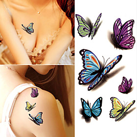10 pcs Tattoo Stickers Temporary Tattoos Cartoon Series Body Arts Brachium