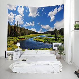 Garden Theme Landscape Wall Decor 100% Polyester Contemporary Modern Wall Art, Wall Tapestries Decoration