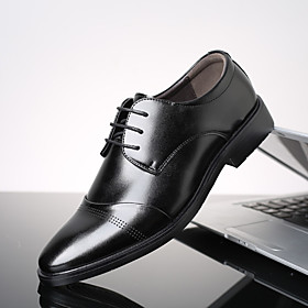 Men's Oxfords Daily Home PU Black / Brown Spring / Fall