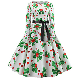 Dress Party Costume Party Dress Adults Women's Vacation Dress Halloween Christmas Halloween Festival / Holiday Polyster Green Women's Easy Carnival Costumes /