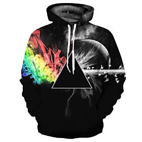 Men's Daily Hoodie 3D Print Hooded Basic Exaggerated Hoodies Sweatshirts  Long Sleeve Black / Spring / Fall
