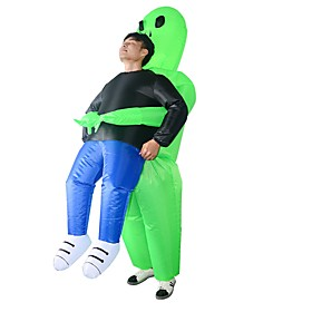 Ghost Costume Teenager Adults' Men's Funny  Reluctant Halloween Halloween Festival / Holiday Fabric Green Men's Women's Easy Carnival Costumes Halloween Cartoo