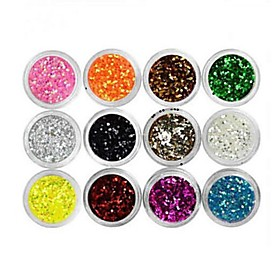 12 pcs Multi Function / Best Quality Eco-friendly Material Sequins For Creative nail art Manicure Pedicure Daily Trendy / Fashion