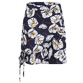 Women's Asymmetrical A Line Skirts - Floral Print / Slim