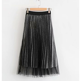 Women's Basic A Line Skirts - Solid Colored