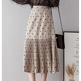 Women's Basic A Line Skirts - Polka Dot / Geometric