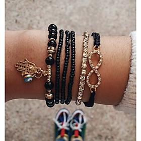 6pcs Women's Bead Bracelet Vintage Bracelet Earrings / Bracelet Layered Infinity Simple Unique Design Classic Vintage Fashion Cord Bracelet Jewelry Gold For Da