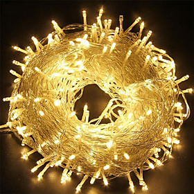 100m 328.1ft 800LED String Lights Outdoor String Lights Twinkle Star Curtain 3000lm IP65 Waterproof for Halloween Christmas Indoor Outdoor Wedding Home Bedroom