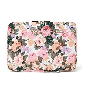 14 Laptop Sleeve Canvas Floral Print Unisex Shock Proof