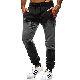 Men's Basic wfh Sweatpants Pants - Print Red Dark Gray Light gray M L XL