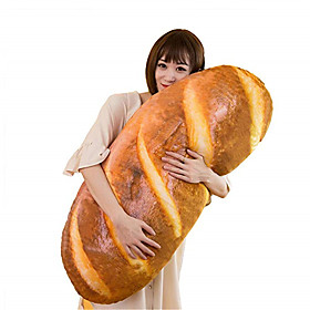 Funny 3D Simulation Bread Shape Pillow Soft Lumbar Cushion Plush Stuffed Toy 80CM