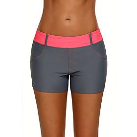 Women's Casual / Sporty Swimwear Bottoms Swimsuit Color Block Color Block Swimwear Bathing Suits Purple Red Green