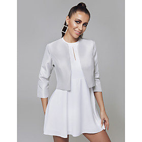 3/4 Length Sleeve Shrugs Satin Wedding / Party / Evening Women's Wrap With Split Joint