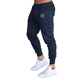 Men's Basic EU / US Size Chinos / wfh Sweatpants Pants - Striped Stripe Cotton Dark Gray Navy Blue Light gray L XL XXL / Drawstring