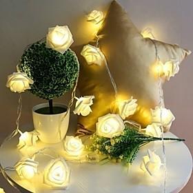 10 Led Rose Christmas Decoration String Lights Simulation LED Light Post Lantern Lighting Fairy Lights Home Flower Party