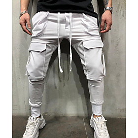 Men's Basic wfh Sweatpants Pants - Solid Colored Cotton Black White Gray US32 / UK32 / EU40 US34 / UK34 / EU42 US36 / UK36 / EU44