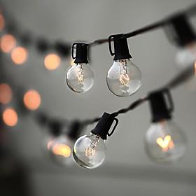 7.62m 25ft String Lights 25 Shatterproof Tungsten Filament Globe Bulbs Ambience Indoor Outdoor Lights for Patio Garden Backyard Bistro Decor