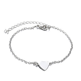 Anklet feet jewelry Dainty Ladies Simple Women's Body Jewelry For Wedding Daily Alloy Heart Love Golden Silver