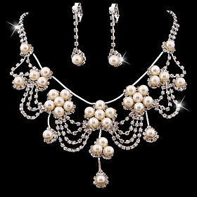 Women's Jewelry Set Bridal Jewelry Sets Tassel Fringe Precious Fashion Imitation Pearl Silver Plated Earrings Jewelry White For Christmas Wedding Halloween Par Gender:Women's; Quantity:1 set; Theme:Precious; Shape:Geometric; Style:Fashion; Jewelry Type:Jewelry Set,Bridal Jewelry Sets; Occasion:Halloween,Gift,Christmas,Wedding,Party Evening; Material:Alloy,Silver Plated,Rhinestone,Imitation Pearl; Design:Tassel Fringe; Brand:Lucky Doll; Shipping Weight:0.04; Listing Date:01/12/2021