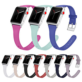 Silicone Watch Band Wrist Strap For Apple Watch Series 6 SE 5 4 3 2 1  Replaceable Bracelet Wristband 38/40mm 42/44mm What's in the box:Watch Band1; Type:Business Band; Band Material:Silicone; For:Apple; Listing Date:09/30/2019; Production mode:Self-produce; SmartWatch Compatible Model:Apple Watch Series 5/4/3/2/1