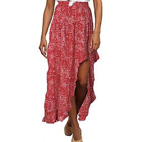 Women's Boho Trumpet / Mermaid Skirts - Floral Print Blue Red S M L / Asymmetrical
