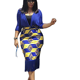 Women's Bodycon Skirts - Galaxy Black Blue S M L
