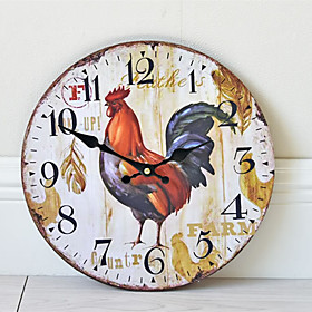 1pcs Frameless Wall Clock Rooster Pattern Home Decoration Wall Clock
