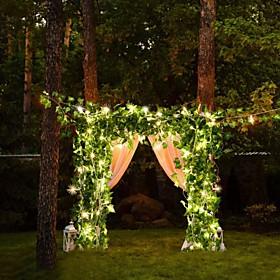2M 30Led Artificial Plants Led String Light Creeper Green Leaf Ivy Vine For Home Wedding Decor Lamp DIY