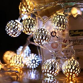 AA Battery String Lights LED Moroccan Garden String Lights Hanging Lantern Fairy Light Outdoor Christmas Decoration Light Chain