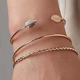 3pcs Women's Bracelet Classic Wedding Birthday Vintage Theme European Trendy Casual / Sporty Ethnic French Alloy Bracelet Jewelry Gold For Date Festival