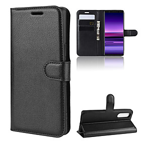 For Sony Xperia 1/Sony Xperia 5/Sony Xperia 10 Litchi Texture Horizontal Flip Leather Case with Wallet amp; Holder amp; Card Slots What's in the box:Case1; Type:Full Body Cases; Material:PU Leather; Compatibility:Sony; Pattern:Solid Colored; Features:Flip,with Stand,Wallet,Card Holder,Shockproof; Net Weight:0.065; Listing Date:05/18/2020; Production mode:Self-produce; Phone/Tablet Compatible Model:Sony Xperia XA2,Sony Xperia XA1,Sony Xperia T2 Ultra,Sony Xperia Z5,Sony Xperia 8,Sony Xperia XA2 Ultra,Sony Xperia XZ Premium,Sony Xperia T3,Sony Xperia Z5 Compact,Sony Xperia 1,Sony Xperia XZ2 Compact,Sony Xperia XZ,Sony Xperia X,Sony Xperia Z5 Premium,Sony Xperia 5,Sony Xperia XZ2,Sony Xperia X compact,Sony Xperia X Performance,Sony Xperia XZ / XZs,Xperia XA1 Plus,Sony Xperia E5,Xperia L2,Sony Xperia XA,Sony Xperia 10 Plus,Xperia XZ1 Compact,Sony Xperia C3,Sony Xperia C5 Ultra,Sony Xperia XA Ultra,Sony Xperia 10,Sony Xperia XZ1,Sony Xperia C6 Ultra,Sony Xperia Z2,Sony Xperia L3,Z5 Mini,Sony Xperia E4,Sony Xperia Z3,Sony XA2 Plus,Sony Xperia C4,Sony Xperia M2,Sony Xperia Z3 Compact,Sony Xperia XZ3,Sony Xperia L1,Sony Xperia M4 Aqua,Sony Xperia Z3 Mini,Xperia XZ,Sony Xperia XZ2 Premium,Sony Xperia XA1 Ultra,Sony Xperia M5,Sony Xperia Z4,Sony Xperia 1 II; Type of Product Adaptation:Cell phone