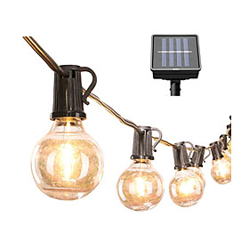 1set 6M 30 Bulbs LED String Lights Outdoor String Lights Outdoor Garden Solar Power Operated Waterproof Ball String Wedding Party Garland Decor LED Lamp