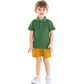 Kids Boys' Basic Solid Colored Short Sleeve Clothing Set Purple Fabric:Cotton; Sleeve Length:Short Sleeve; Gender:Boys'; Style:Basic; Kids Apparel:Clothing Set; Age Group:Kids; Pattern:Solid Colored; Front page:FF; Listing Date:06/01/2020; Bust:; Length [Bottom]:; Length [Top]: