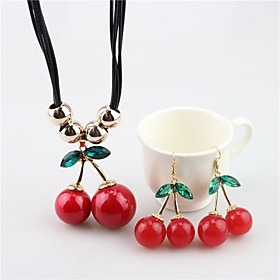 Women's Jewelry Set Cherry Cute Resin Earrings Jewelry Red For Festival Gender:Women's; Theme:Cherry; Style:Cute; Jewelry Type:Jewelry Set; Occasion:Festival; Material:Alloy,Resin; Length of Necklace:465; Shipping Weight:0.068; Package Dimensions:9.06.01.5; Listing Date:06/16/2020