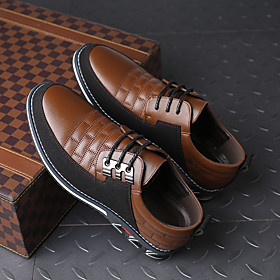 Men's Sneakers Daily Home PU Black / Blue / Brown Spring / Fall